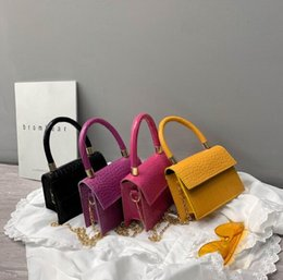 lady mini handbag Australia - Alligator Shoulder Bags Mini Women Chain Crossbody Small Ladies Shipping Flap Plain Handbags