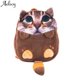 $enCountryForm.capitalKeyWord Australia - Aelicy bag for women 2019 Cartoon Cat Kids Backpack Kindergarten Children Cute Baby girls School Bag mochilas dropship wholesale