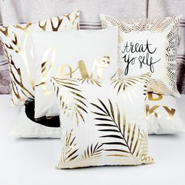 Decor stamps online shopping - Christmas Pillowcase Bronzing Pillow Cover Cushion Cover Home Decor Gold Stamp Pillow Decorative Throw Pillows case MMA2440