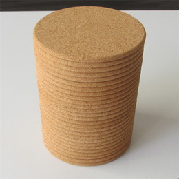 round cork NZ - Hot Cork waterproof and non-slip cup cushion restaurant household used thermal insulation table cushion solid color round pad T3I5474