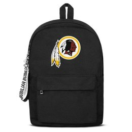 $enCountryForm.capitalKeyWord UK - Washington Redskins Free Shipping Women Men Canvas School Student Lightweight Travel Backpack Printing Backpack Designer B