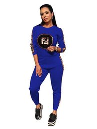neo box 2019 - neo Women Sequins Decal Elastic force Letter Ribbon Two Piece Set Tracksuits Female Street And Jogger Set Suits cheap ne