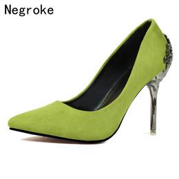 a5964adace6a Designer Dress Shoes Candy Color Pumps Women Suede Red Bottom High Heels  Metal Heel Stiletto Ladies Wedding Bride Woman Dames Schoenen