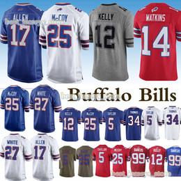 2019 jerseys 17 Josh Allen 12 Jim Kelly 34 Thurman Thomas 25 LeSean McCoy  14 Sammy Watkins new jersey 2019 0df6c8b62