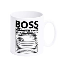 $enCountryForm.capitalKeyWord UK - White Mugs With Printing Words Boss Nutritional Facts Coffee Mugs For Christmas Gift Brithday Gift