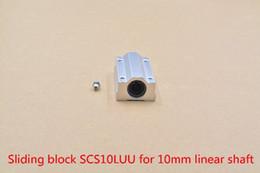 Block Bearings NZ - SC10LUU SCS10LUU bearing 10mm linear motion ball bearing slide block for 10mm rod round shaft XYZ Table CNC 1pcs