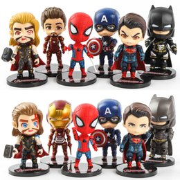 Avengers Toys For Sale NZ - Hot Sale 6pcs Lot The Avengers Spider-Man Captain America High Quality PVC Action Figures For Child Gift Collect Toy