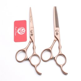 "$enCountryForm.capitalKeyWord NZ - 6"" 17.5cm JP Titanium Purple Dragon Brand Rose Gold Barber Scissors Hairdressing Shears Cutting Shears Thinning Scissors Hair Scissors Z9030"