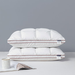 goose down bedding NZ - Peter Khanun 48*74cm Brand Design 3D Bread White Duck Goose Down Feather Pillows for Sleeping Bed Pillows Home Textile 014 T200629