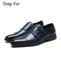 Pointy black dress shoes men online shopping - Big Size Men Wedding Dress Buckle Shoes Elegant Gentle Business Oxfords Pointy Shoes Designer Flats Man
