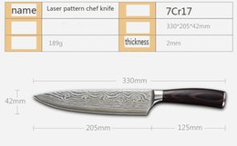 Kitchen Chef Knives Set Australia - 7Cr17 Luxury Damascus Japanese Kitchen Sushi cooking Knives knife sets Meat cleaver sharp vegetable knife 8 inch wood handle chef knife