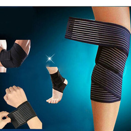 sport strapping tape Australia - Knee Elbow Wrist Ankle Bondage Cuff Support Wrap Sport Bandage Compression Strap Belt Fitness Gym Brace Tape Elastic Band