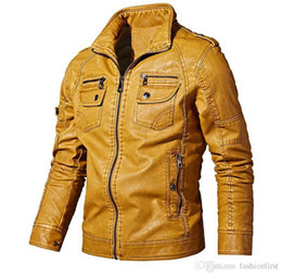 Wholesale mens wool jackets sale for sale – winter New Mens Jackets PU Clothing Motorbiker Turndown Collar Zippers Coat Men Clothing Coat Leather Jacket Motorcycle Overcoat For Sale Chaqueta