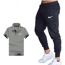 $enCountryForm.capitalKeyWord Australia - Classic Brand Summer Men 'S Sets Polo Shirts +Pants Two Pieces Sets Casual Tracksuit Mens Polo Shirt Gyms Fitness Suit M-2XL