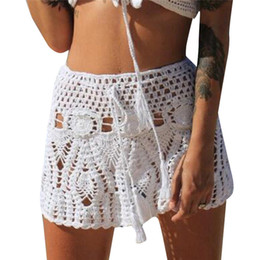 $enCountryForm.capitalKeyWord Australia - Women Beach Knitted Skirt Sexy High Qualilty Hollow Out Night Club Outfits Female Petticoat New Arrival 2019 Summer Vintage #15