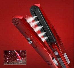$enCountryForm.capitalKeyWord Australia - Steam Hair Straightener Kemei Brand Steam Comb Straightening Irons Automatic Straight Hair Brush Steam Flat Iron Free Shipping SH190729