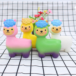 soft toy alpaca NZ - Alpaca Squishies Slow Rising Mini Squishy Stress Relief Toys Super Soft Squeeze Toys Cute Scented Fragrant Decoration Toys for Kids&Adults