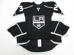 d7b03df87 Cheap custom QUICK LOS ANGELES KINGS HOME JERSEY GOALIE CUT 58 stitch add  any number any name Mens Hockey Jersey