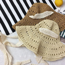 $enCountryForm.capitalKeyWord Australia - 2019 new hot sale comfortable casual Korean version of the strap lace windproof folding beach visor hollow handmade straw fisherman