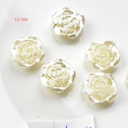 $enCountryForm.capitalKeyWord Australia - 20pcs12mm White Flat Back Simulated Half Pearl Bead Rose Flower Pearl Cabochon Beads For Craft Diy Jewelry Making