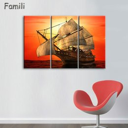 $enCountryForm.capitalKeyWord Australia - 3Panel Frameless Canvas Painting sailboat Painting for Living Room Wall Art Posters and Prints Modern Pictures Decoration