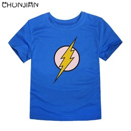 $enCountryForm.capitalKeyWord Australia - kids t shirts children royal blue with flash man logo cartoon character marvel tops for boys children summer