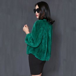 real army jacket NZ - 2019 Fashion Real Rabbit Fur Coat Natural Fur Short Warm Winter Jacket Women Genuine Rex Rabbit Fur Coats Plus Size 5xl YQ307 T191122