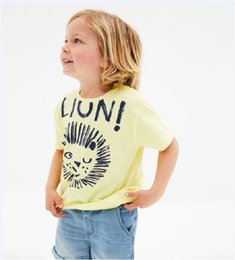 Plaid Tee Kids Australia - Summer Designer Baby Kids Girls Tees Embroidery 100% Cotton Boys Girls Tops Unicorn Horse Lion Stripes Car Girls Short Sleeve T-shirts