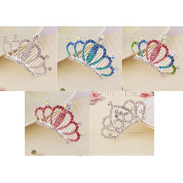 e2c1e814e9203 Multicolor Shiny Rhinestone Crown Hair Clip - Children Kids Girls Princess  Hairpins Hair Combs Accessories Ornaments Tiaras