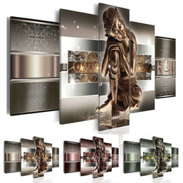 $enCountryForm.capitalKeyWord Australia - (Unframed, Only Print) Canvas Print Modern Fashion Wall Art Buddha Painting on Abstract for Home Office Bar Decoration Choose Color And Size