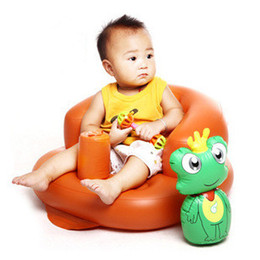 Wholesale Children's dinner small sofa PVC casual self-contained inflatable multi-function baby seat easy to carry