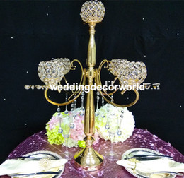 $enCountryForm.capitalKeyWord UK - New style tall Large table top crystal chandelier flower stands centerpieces for weddings best01026