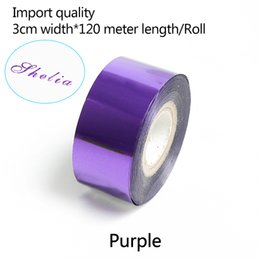 stamped leather NZ - 3CM*120meter  Purple Gold Rolls Hot Foil Stamping Paper Heat Transfer Anodized Gilded Paper for Leather PU Wallet Hot foil stamping