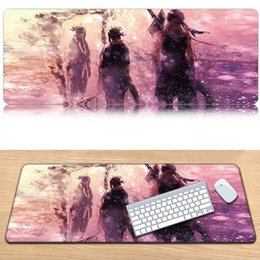 $enCountryForm.capitalKeyWord Australia - Top Naruto Keyboard pad oversized mouse lock naruto mouse pad mad edge anti-skid end notebook computer game keyboard table mat