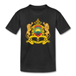 Sale Arm Sleeve Australia - T Shirt Sale Men'S Regular Short-Sleeve Coat Of Arms Of Morocco Tee Shirt