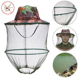 $enCountryForm.capitalKeyWord NZ - 10 pcsCamouflage Hat Bee Keeping Insects Mosquito Net Prevention Mesh Fishing Cap Outdoor Sunshade Lone Neck Head Cover C19041201