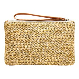 $enCountryForm.capitalKeyWord UK - Women Straw Bag New Fashion Beach Clutch Bags Lady Handbag Handmade Rattan Bag Corn Peels Woven Summer Casual Clutch