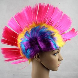 color bar products Australia - Halloween Costume Wigs Bar KTV Products Acting Funny Wig Color Comb Hair Cock Hair