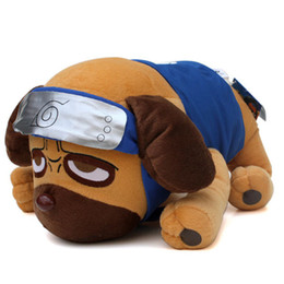 $enCountryForm.capitalKeyWord Australia - 40cm Japanese Anime Cartoon Naruto Kakashi Pakkun Dog Plush Toys Doll Soft Stuffed Animals Toys For Kids Children Christmas Gift J190506