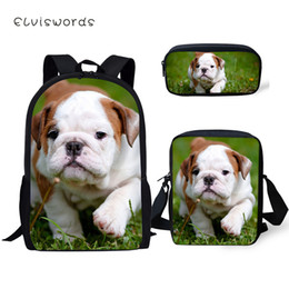 $enCountryForm.capitalKeyWord NZ - ELVISWORDS Kids Primary Backpack Little Bulldogs Pattern School Book Bags Kawaii Animal Designer 3PC Set Students School Bags
