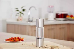 $enCountryForm.capitalKeyWord Australia - Stainless Steel Pepper Mill Adjustable Pepper Grinder Mill Salt and Pepper Spice Seasoning Grinding Milling Machine Kitchen Tool Accessories