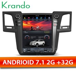"Multimedia Player For Car Australia - Krando Android 7.1 10.4"" Tesla Vertical screen car DVD multimedia player GPS for Toyota fortuner Revo 2012-2015 navigation system"