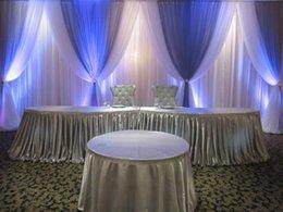 10 pés x 20 pés contexto branco casamento com royal azuis Swags cortinas Decoração do casamento Stage 89 em Promoção