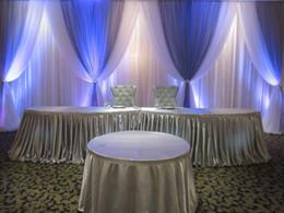Опт Шторы оформление сцены 89 10 футов x 20 футов белый фон с королевский синий свадебные гирлянды свадебные