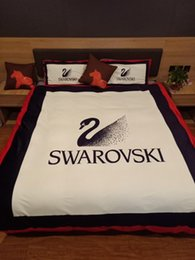 $enCountryForm.capitalKeyWord NZ - Brand Design Logo Printed Washed Cotton Bedding Supplies Dovet Set in Check and Dovet Cover and Pillow Home Cases Bedding Supplies 333