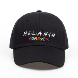 Wholesale melanin for sale - Group buy 2019 new arrival MELANIN forever letter embroidery baseball cap women snapback hat adjustable men fashion Dad hats