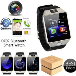 Wholesale Wrist Watch Phone NZ - High Quality DZ09 Bluetooth Smart Watch Wearable Wrist Watches Touch Screen For Samsung S8 Android Phone Sleeping Monitor Smart Watches