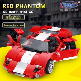 Blocks Moc Australia - IN STOCK XingBao 03011 919Pcs Genuine Creative MOC Technic Series The Red Phantom Racing Car Set Building Blocks Bricks