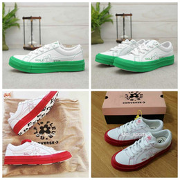 $enCountryForm.capitalKeyWord NZ - Conver X Golf Le Fleur One Star Low Top TTC Womens Mens Fashion Casual Canvas Skateboard Shoes Green Red Designer Sport Sneakers Eur35-44