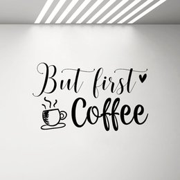 $enCountryForm.capitalKeyWord Australia - But First Coffee Vinyl Decal Kitchen Removable Decor Cafe Wall Window Stickers Home Decoration Art Posters Sticker G499